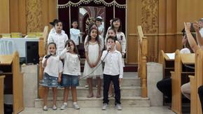 """<공립 초등학교의 종교 교육의 예> 아이들이 처음 토라를 받는 의식 """"메시바트 토라(토라 파티)"""""""