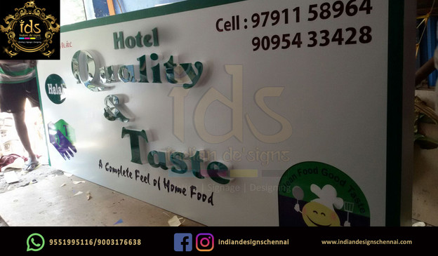 13_Acp Sign Board With Acrylic  3D Lette