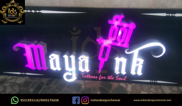 02_Acp Sign Board With Acrylic  3D Lette