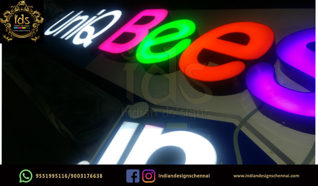 11_Acp Sign Board With Acrylic  3D Lette