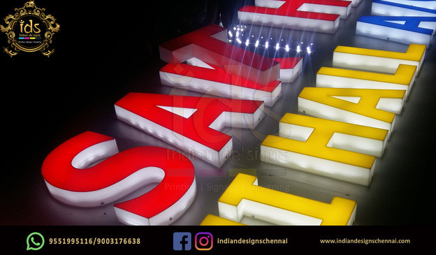 06_Acp Sign Board With Acrylic  3D Lette