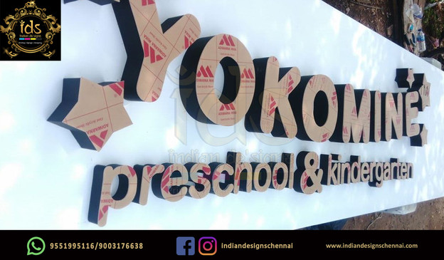 08_Acp Sign Board With Acrylic  3D Lette