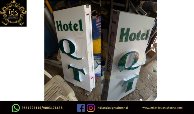 12_Acp Sign Board With Acrylic  3D Lette
