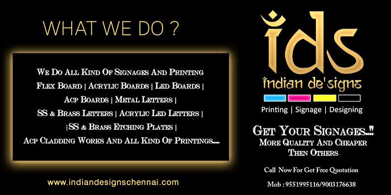 Indian De'Signs What We