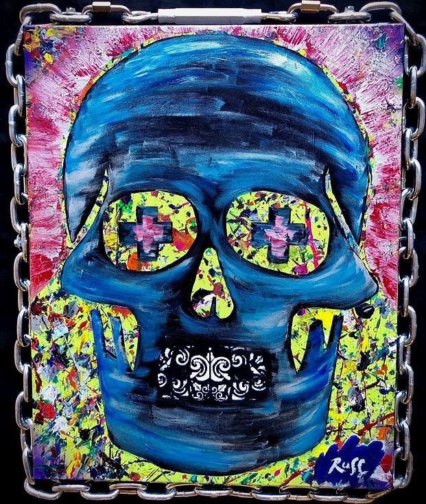 Smashup Studios urban vibrant visul art skull and chains