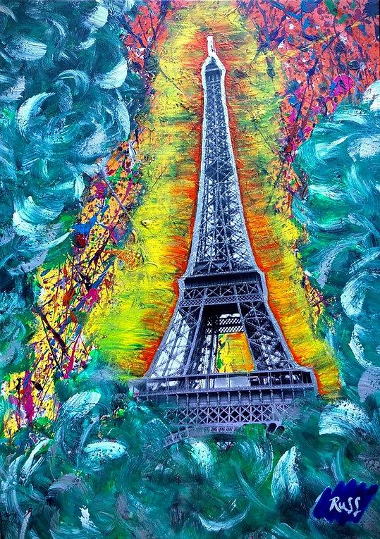Smashup Studios urban vibrant visul art Eiffel Tower