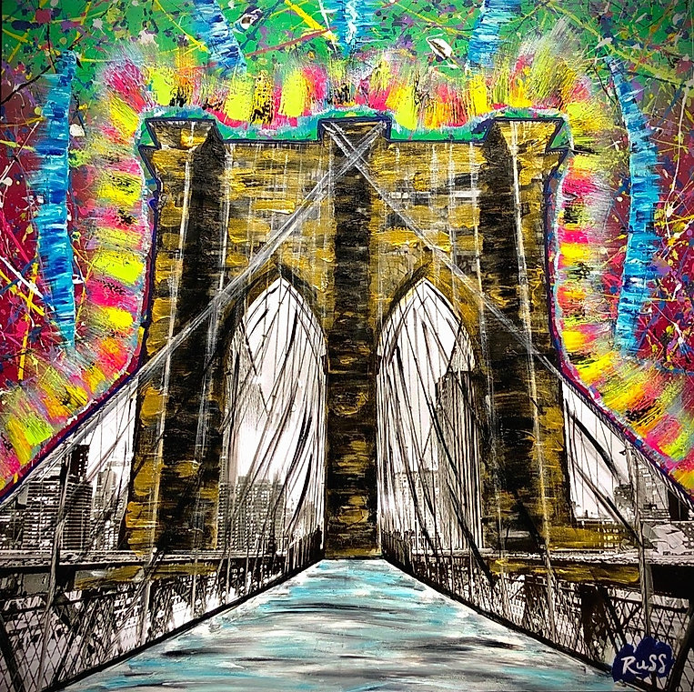 Smashup Studios urban vibrant visul art Brooklyn bridge NYC