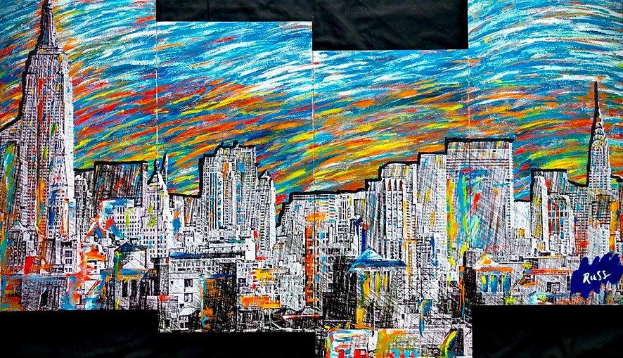 Smashup Studios urban vibrant visul art NYC skyline