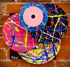 Hi-Fi Vinyl Sculpture Pink Burst