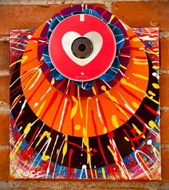 Hi-Fi Vinyl Sculpture Heart