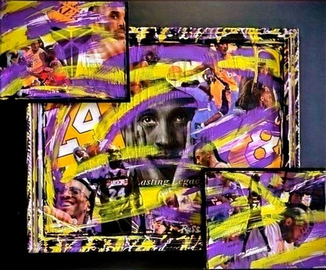 Smashup Studios urban vibrant visul art Kobe Bryant black mamba