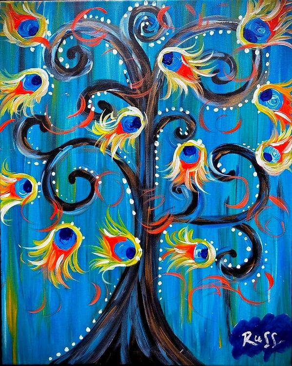 Smashup Studios urban vibrant visul art whimsical tree