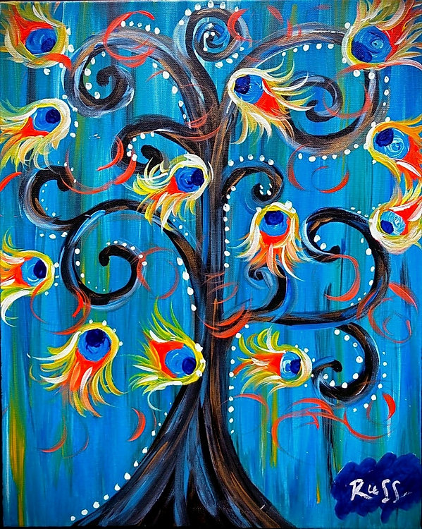 Smashup Studios urban vibrant visul art whimsical tree