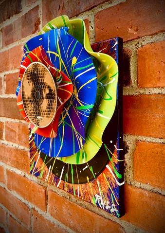 Hi-Fi Vinyl Sculpture Disco Bloom