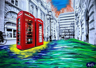 Smashup Studios urban vibrant visul art London callbox