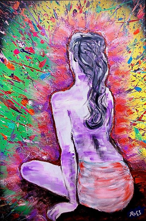 Smashup Studios urban vibrant visul art woman sitting