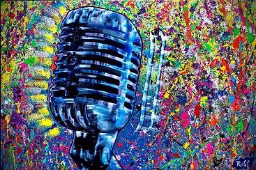 Smashup Studios urban vibrant visul art retro mirophone