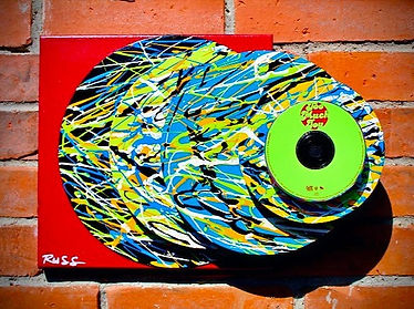 Vinyl record sculpture urban art
