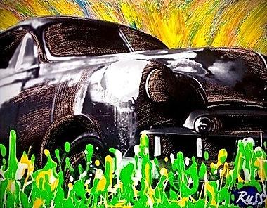 Smashup Studios urban vibrant visul art old automobile