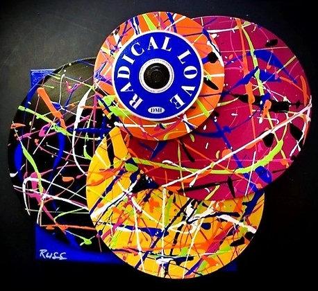 Hi-Fi Vinyl Pyramid Sculpture Radical Love