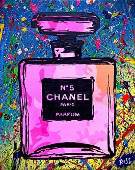 Smashup Studios urban vibrant visul art Chanel No. 5 perfume