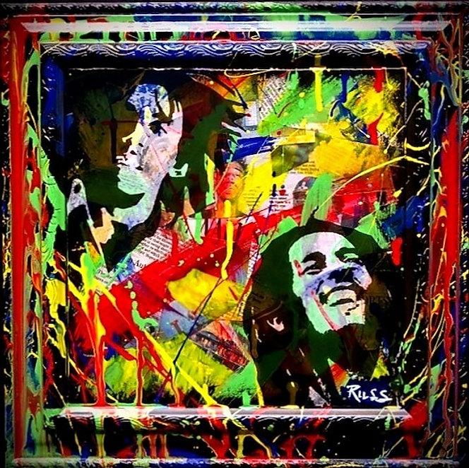 Smashup Studios urban vibrant visul art Bob Marley buffalo soldier