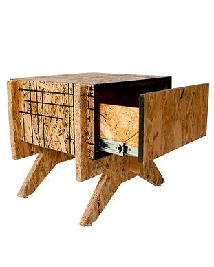 noptiera din lemn cu deschidere completa