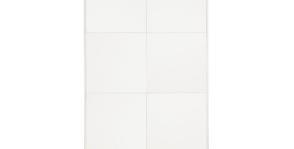 dulap alb de dormitor cu 6 usi albe