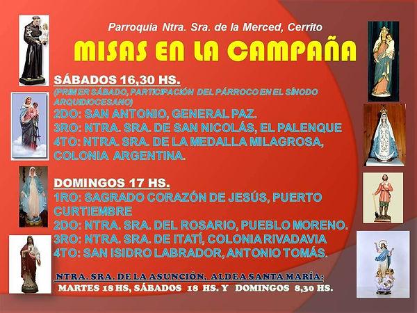 Horarios de misa En Cerrito