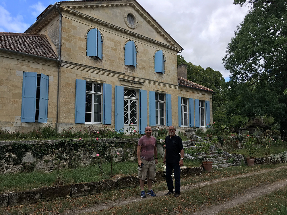 The author with Jacques de la Bardonnie at Château Laroque