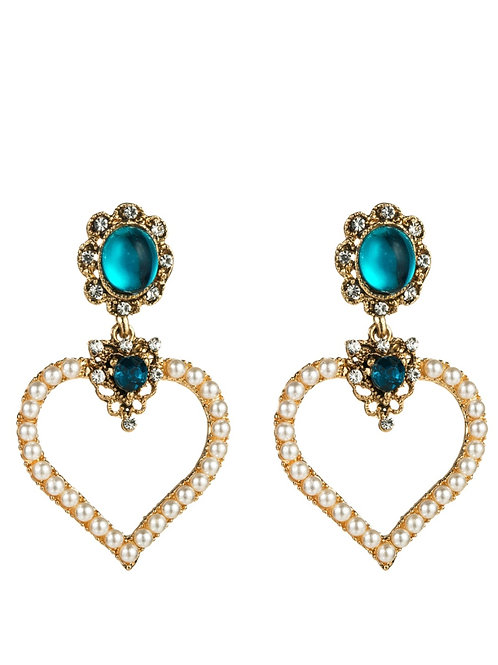 Heart ❤  Rhinestone earring