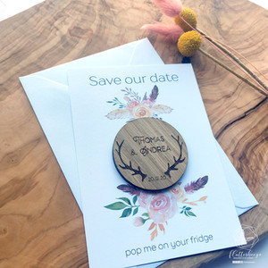 Woodland Antlers save the date