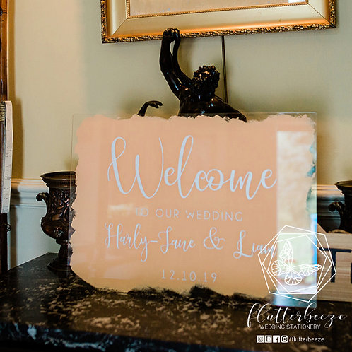 Acrylic Welcome Sign