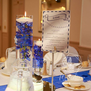 Silver & Navy Table Numbers