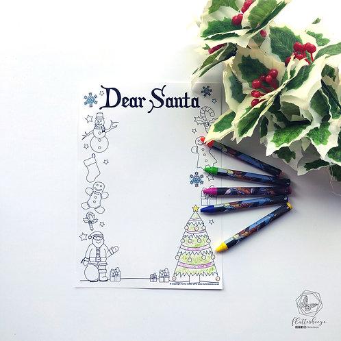 Santa Letter - colouring in