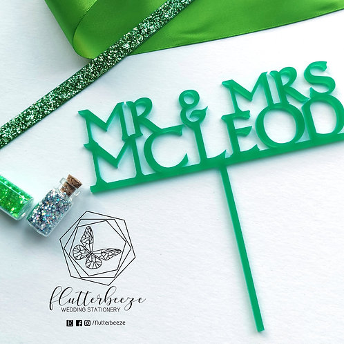 Celtic Cake Topper