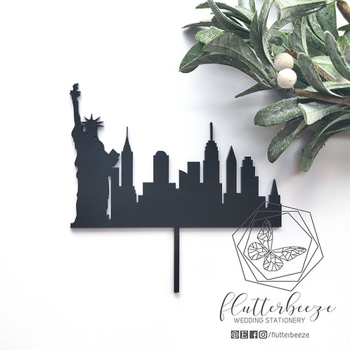 New York Skyline Cake Topper