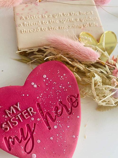My Sister - words - Embosser