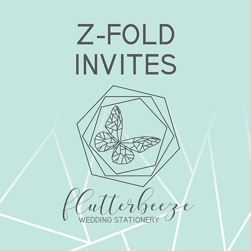 Z fold Invites