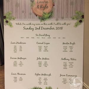 Winter Table Plan