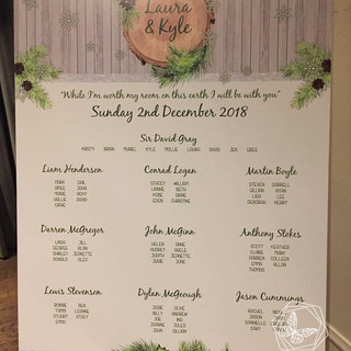Winter Table Plan