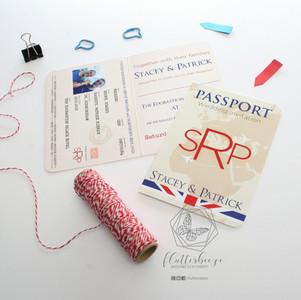 Union Jack Passport Style invitations
