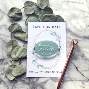 Acrylic magnet save the date