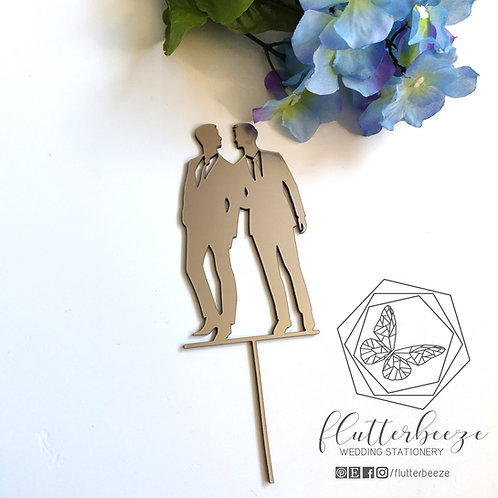 Groom & Groom Wedding Cake Topper