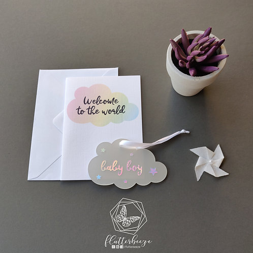 New baby card + gift