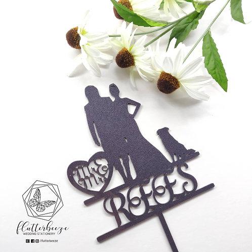 Love Heart Couple Cake Topper