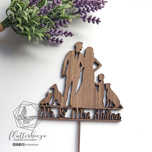All about the dogs Cake Topper