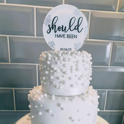 Circle topper - Would be wedding day