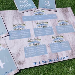 Dusky Blue Table plan