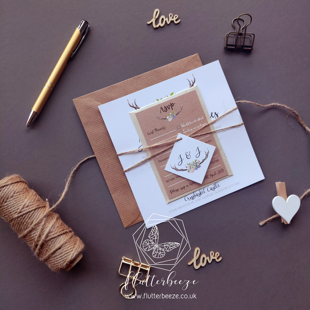 Rustic set with twine